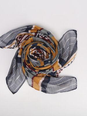 Foulard motif fantaisie bordeaux femme