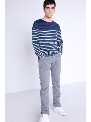 Pantalon teinte par produits naturels gris fonce homme