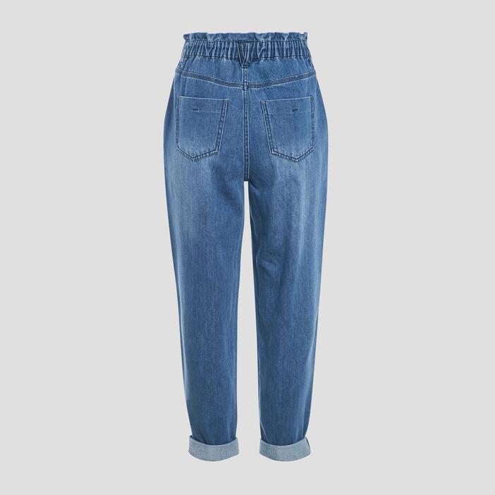 Jeans ample taille haute denim stone femme