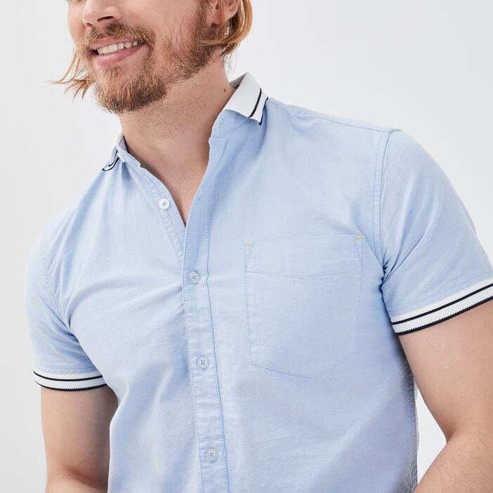 Chemise éco-responsable bleu clair homme