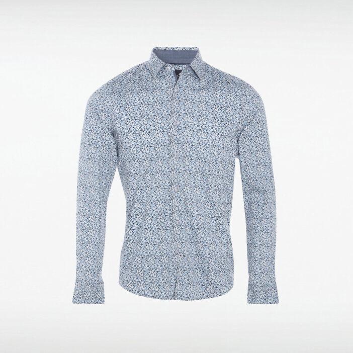 Chemise Instinct ajustée bleu lavande homme