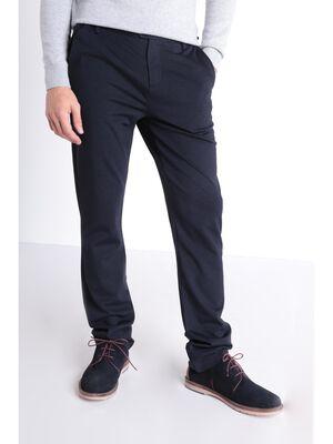 Pantalon straight 4 poches bleu fonce homme