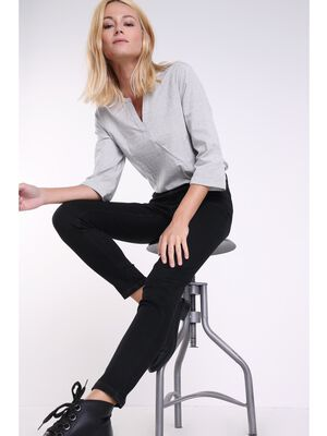 Jeans Instinct slim denim noir femme