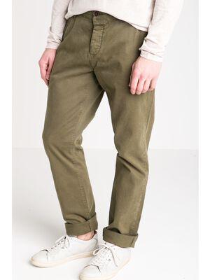 pantalon homme chino straight vert kaki