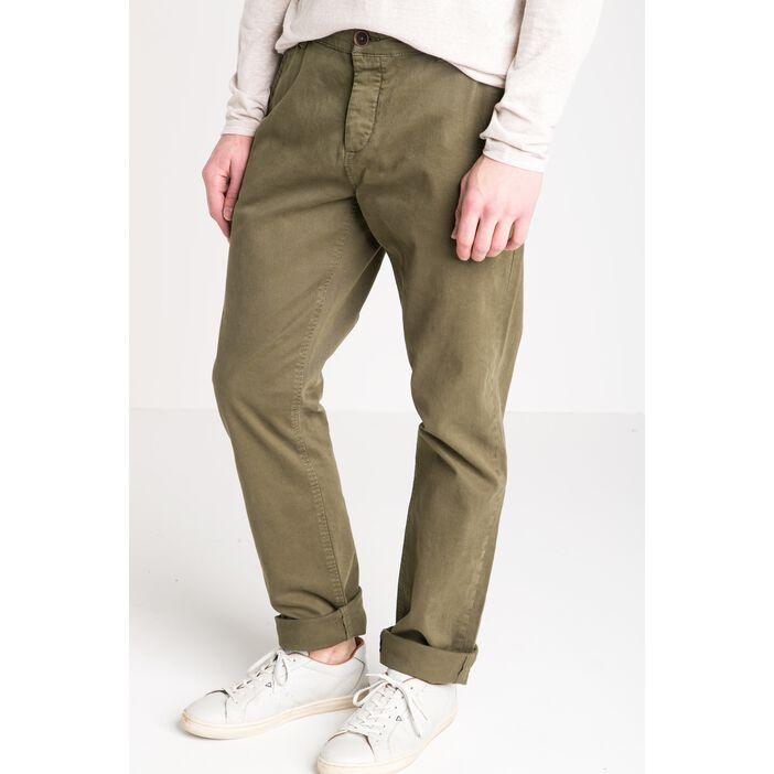 pantalon homme chino straight vert kaki vib 39 s. Black Bedroom Furniture Sets. Home Design Ideas