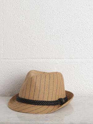 Chapeau ete beige homme