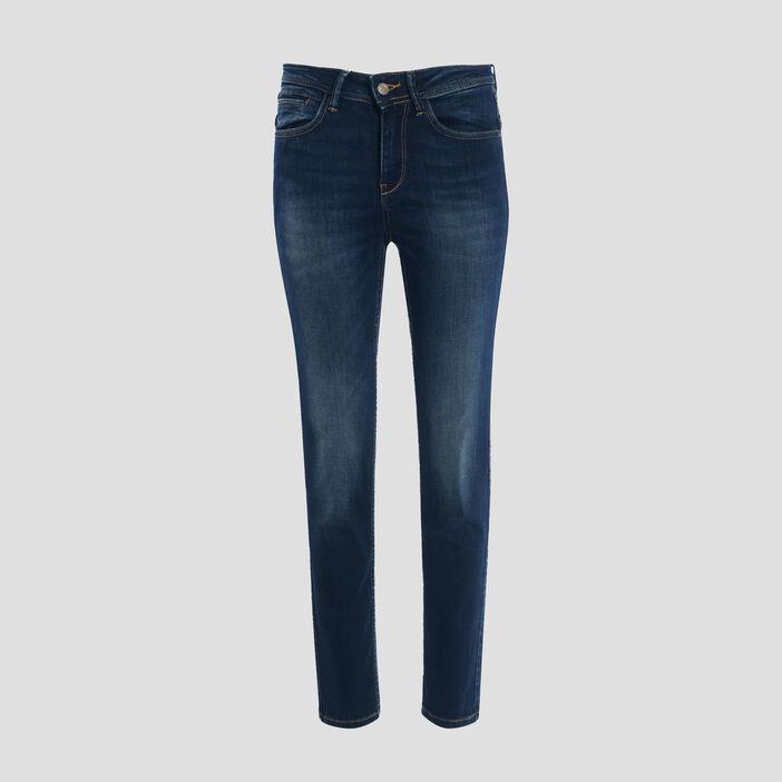 Jeans regular 7/8ème denim brut femme
