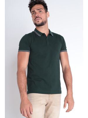 Polo Instinct manches courtes vert fonce homme