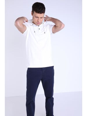 T shirt capuche ecru homme