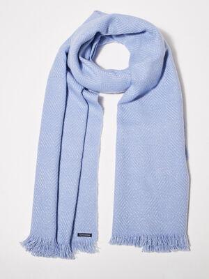 charpe bleu gris femme