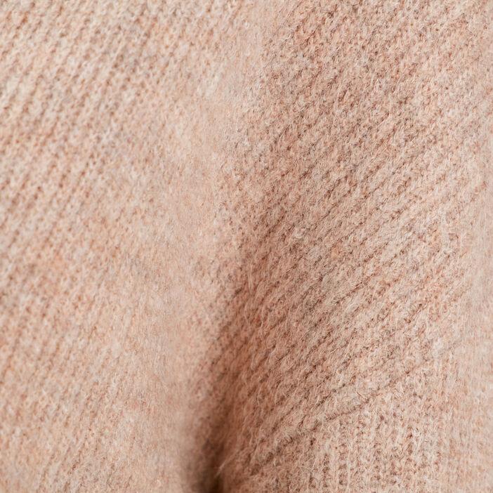 Gilet manches longues sable femme