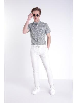 Pantalon chino 4 poches ecru homme