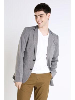 Veste cintree et legere gris clair homme