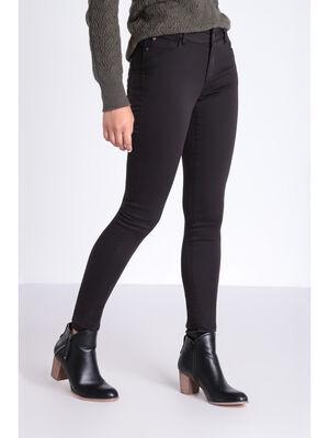 Pantalon Audrey  skinny push up gris fonce femme
