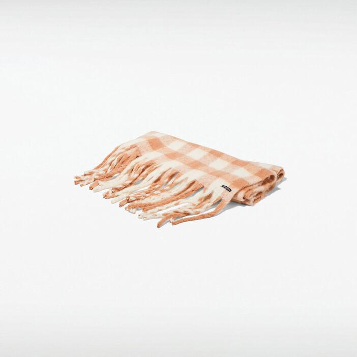 Écharpe vieux rose femme