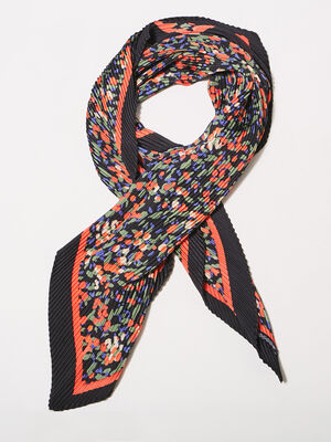 Foulard plisse multicolore femme