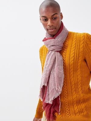 Foulard rouge fonce homme