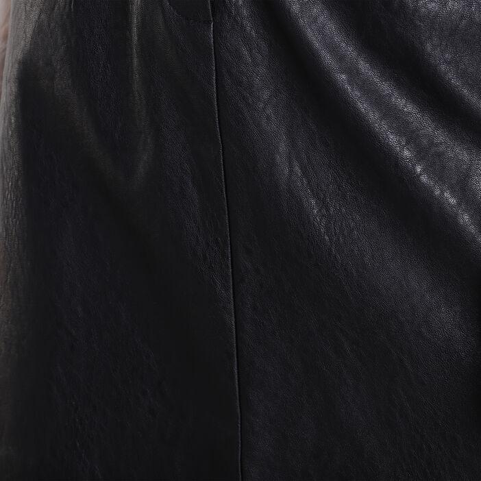 Jupe droite 2 poches noir femme