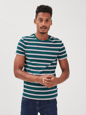 T shirt eco responsable vert fonce homme