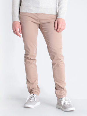 Pantalon Instinct chino slim marron homme