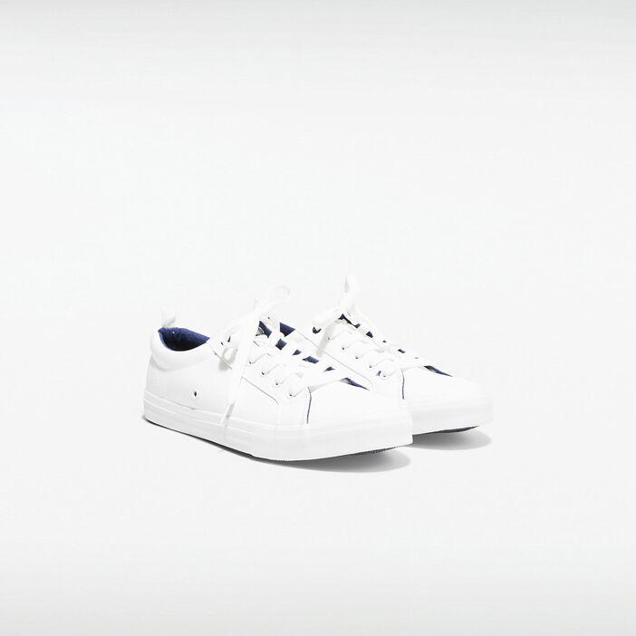 Baskets plates blanc homme