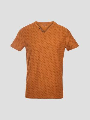 T shirt eco responsable marron homme