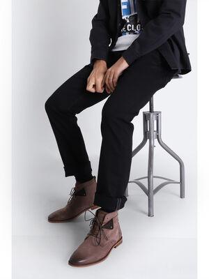 Jeans straight 5 poches denim noir homme