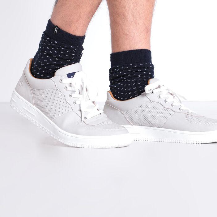 Baskets basses à lacets gris homme