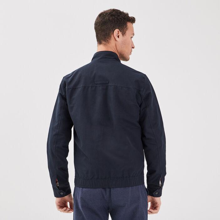 Veste droite zippée bleu foncé homme