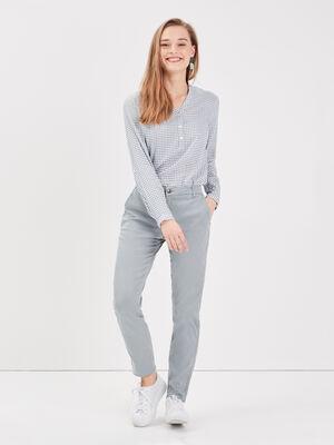 Pantalon chino Instinct gris fonce femme