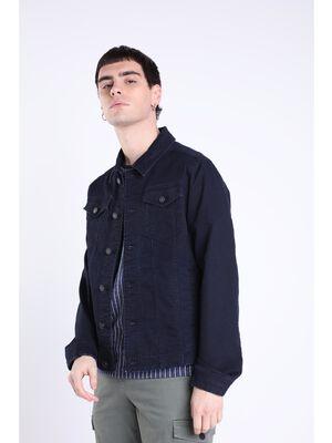 Veste en jean cintree poches denim stone homme