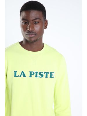 Sweat a message vert fluo homme
