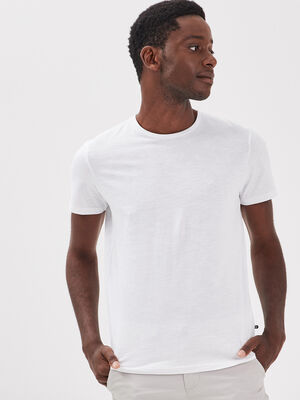 T shirt Instinct col rond blanc homme