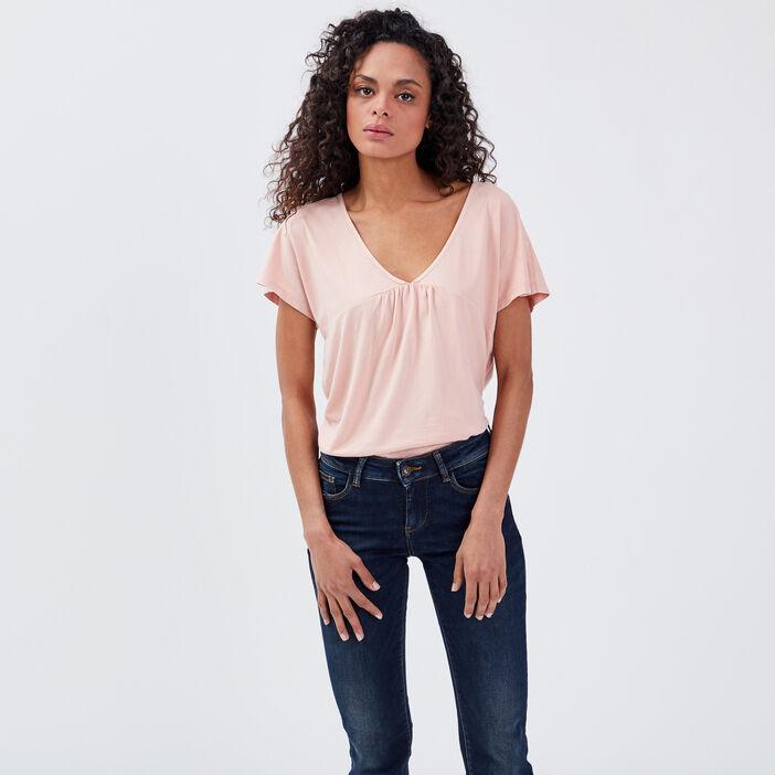T-shirt manches courtes rose femme