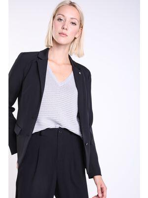 veste tailleur femme taille cintree noir