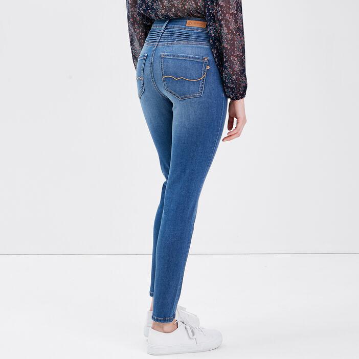 Jeans slim boutonné denim stone femme