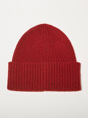Bonnet tricote bordeaux homme