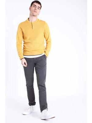 Pantalon chino slim Instinct gris fonce homme