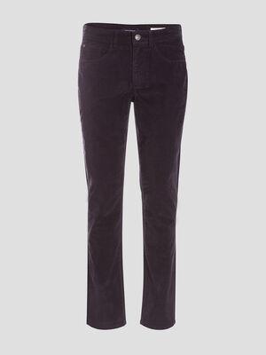 Pantalon slim effet velours bleu fonce homme