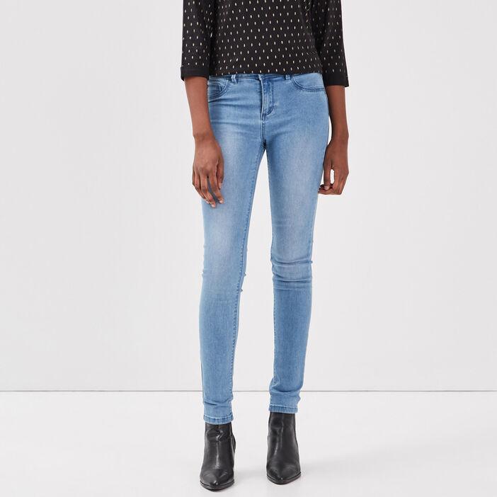 Jeans jegging skinny en coton bio denim used femme