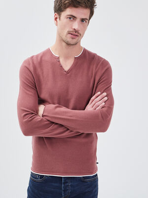 Pull eco responsable vieux rose homme