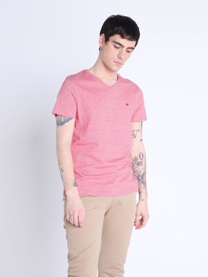 T shirt manches courtes rouge homme