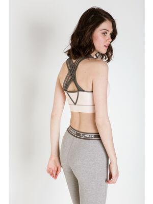 Brassiere de yoga Instinct gris femme