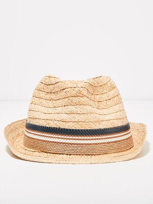 Chapeau en paille sable homme