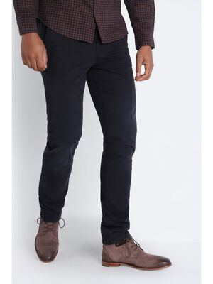 Pantalon chino ultra stretch noir homme