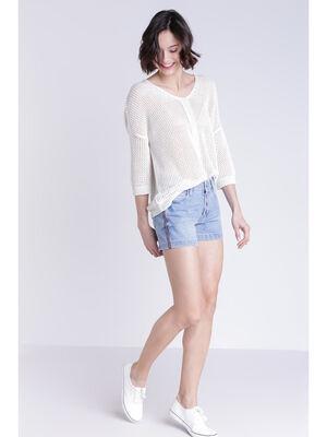 Short en jean denim stone femme