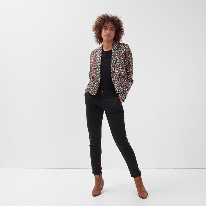 Veste droite éco-responsable noir femme