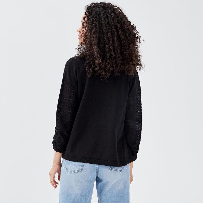 Gilet manches longues noir femme