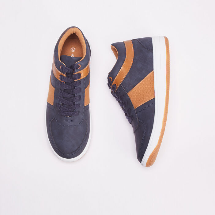 Baskets sneakers plates bleu foncé homme