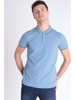 Polo Instinct manches courtes bleu gris homme
